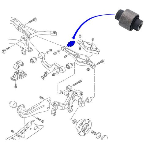 bucha interna bandeja traseira volkswagen jetta - 2011-2017 chassis a6  febest ucvw5311-16930 vwab014 863726 1k0505311ab - all parts net